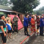 Akibat Lupa Matikan Kompor 4 Rumah di Asrama Yonief Rider Terbakar