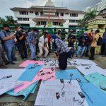 Puluhan Wartawan Demo Kantor Walikota Medan